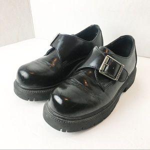 SZ 7 90's Rugged Black Jumbo Buckle Skechers